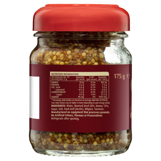 Mustard Honey Wholegrain 175g