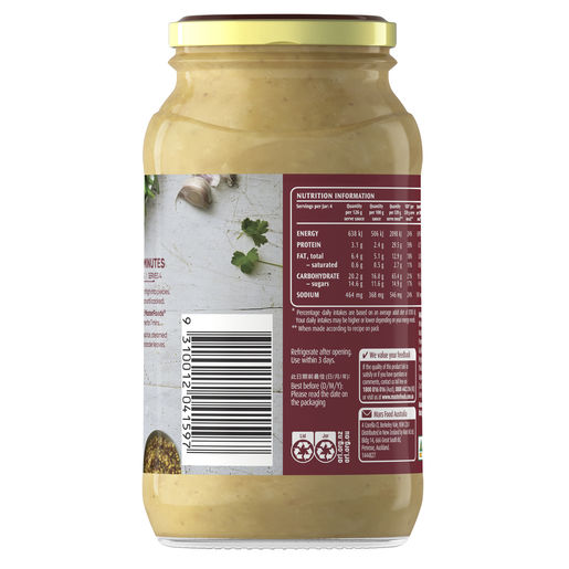 Honey Mustard Chicken Cooking Sauce 505g