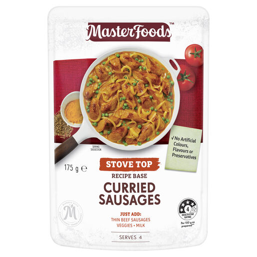 Curried Sausages Recipe Base Stove Top Pouch 175 g