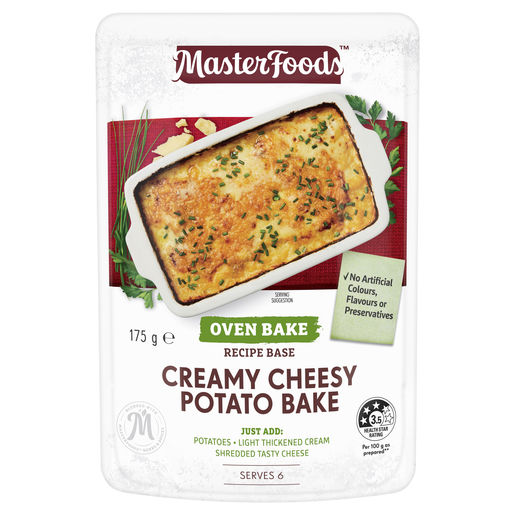 Creamy Cheesy Potato Bake Recipe Base Oven Bake Pouch 175 g