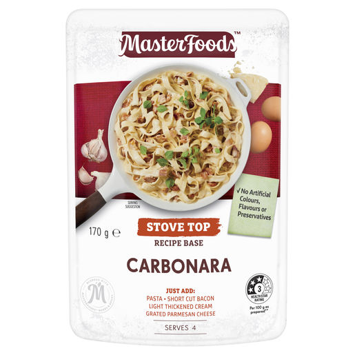 Carbonara Recipe Base Stove Top Pouch 170 g