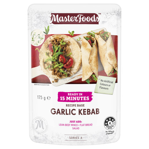 Ready in 15 Minutes Garlic Kebab Recipe Base 175 g
