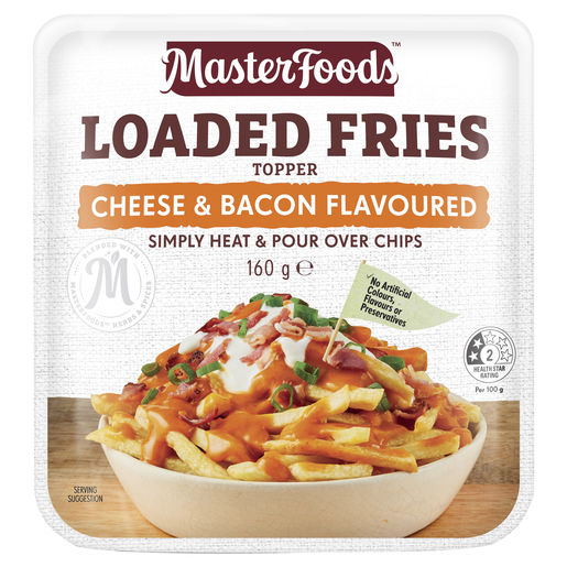Loaded Fries Cheese & Bacon Flavoured Topper 160 g